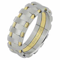 18 Kt Two-Tone Gold Wedding Ring
