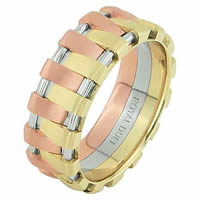 Item # 68678201E - 18 Kt Tri-Color Wedding Ring