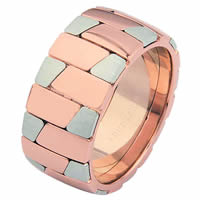 Item # 68709020R - 14 K White and Rose Gold Wedding Ring