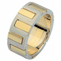 Item # 68711010E - 18 Kt Two-Tone Gold Wedding Ring