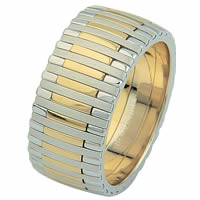 Item # 68712010E - 18 Kt Two-Tone Wedding Ring, Piano Music