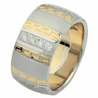 18 Kt Two-Tone Diamond Wedding Ring