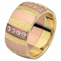 Item # 6871312D - Yellow and Rose Gold Diamond Wedding Ring