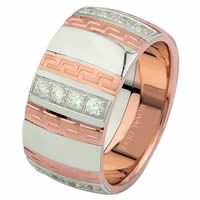Item # 6871320DR - Rose and White Gold Diamond Wedding Ring