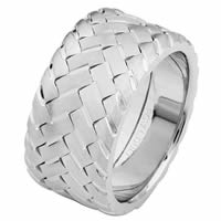 Item # 687140120W - 14 Kt White Gold Wedding Ring