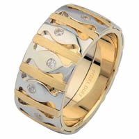 Item # 6871501D - 14 K Two-Tone Diamond Wedding Ring