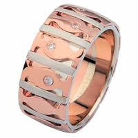 Item # 6871520DR - White & Rose Gold Diamond Wedding Ring