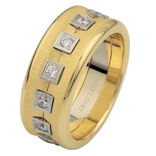 Item # 6871610D - Two-Tone Eternity Diamond Wedding Ring View-1