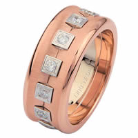 Rose & White Gold Eternity Wedding Ring