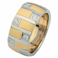Item # 68718010D - 14 K Two-Tone Diamond Ring