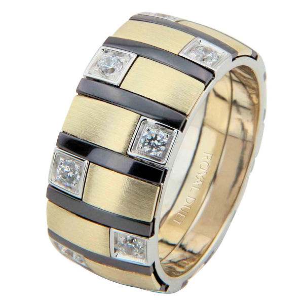 Item # 68718013DE - Two-Tone & Black Rhodium Diamond Ring View-1