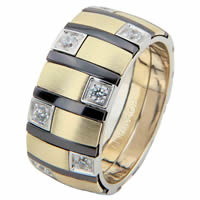 Item # 68718013DE - Two-Tone & Black Rhodium Diamond Ring