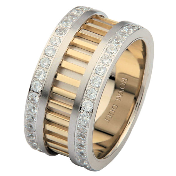 Item # 68719010DE - Two-Tone Diamond Eternity Ring View-1
