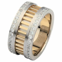 Item # 68719010DE - Two-Tone Diamond Eternity Ring