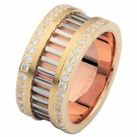 Item # 68719102DE - Tri-Color Diamond Eternity Ring