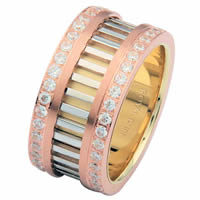 Tri-Color Diamond Eternity Ring