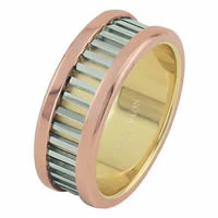 Item # 68719201E - Tri-Color Wedding Ring