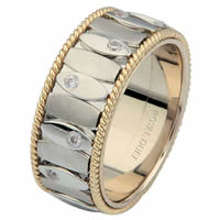 Item # 6872001D - Two-Tone Gold Diamond Ring. Inseparable