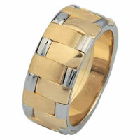 Item # 6872201 - 14 K Two-tone Wedding Ring
