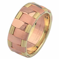 Yellow-Rose Gold Wedding Ring Eternally Together
