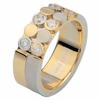 14 K Two-Tone Diamond Ring