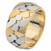 Item # 68725010 - 14 K Two-Tone Wedding Ring