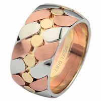 14 K Tri-Color 14 K Wedding Ring