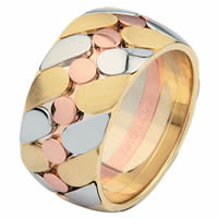 Item # 68725210 - 14 K Tri-Color 14 K Wedding Ring
