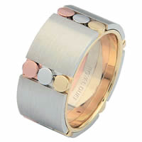 Item # 687271020 - 14 K Tri-Color Wedding Ring