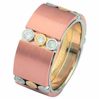 Item # 687272010DE - Tri-Color Diamond Wedding Ring