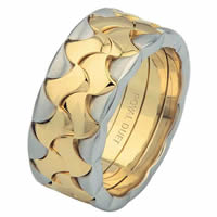18 Kt Two-Tone Wedding Ring