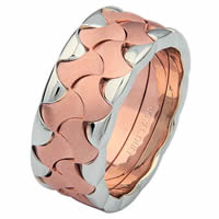 Item # 6872802RE - 18 Kt Rose & White Gold Wedding Ring
