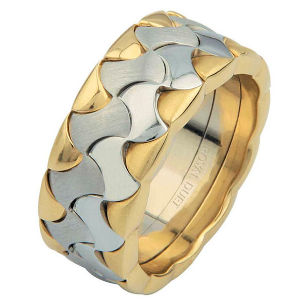 14 K Two-Tone Wedding Ring
