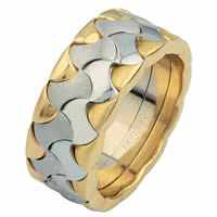 Item # 6872810E - Two-Tone Wedding Ring