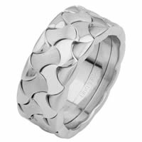 Item # 6872810WE - 18 Kt White Gold Wedding Ring