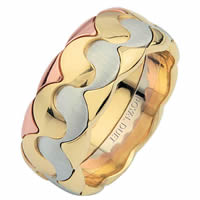 Item # 687291012E - Tri-Color Wedding Ring Music, Balance, Harmony