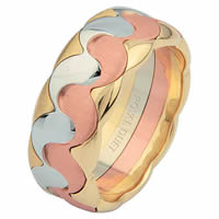 Item # 687301201E - Tri-Color Wedding Ring