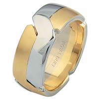 Item # 6873110E - 18Kt Two-Tone Wedding Ring, Tied Together