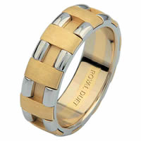 14 Kt Two-Tone Gold Wedding Ring