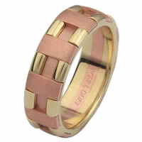 Item # 6873612 - 14 Kt Rose & Yellow Gold Wedding Ring