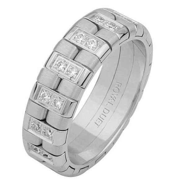 14 Kt White Gold Diamond Wedding Ring
