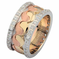 Item # 68738012D - 14 K Tri-Color Diamond Eternity Ring