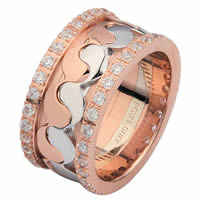 Item # 68738202DR - 14 Kt Rose & White Gold Diamond Eternity Ring