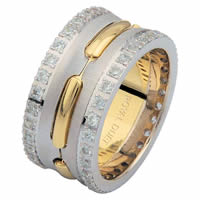 Item # 6873901D - 14 K Two-Tone Diamond Eternity Ring