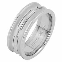 Item # 6873901WE - 18 Kt White Gold Wedding Ring