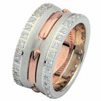 Item # 6873902DR - 14 K Rose & White Gold Diamond Eternity Ring