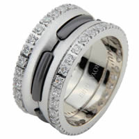 Item # 6873903DW - White Gold & Black Rhodium Diamond Eternity Ring