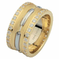 Item # 6873910DE - Two-Tone Diamond Eternity Ring