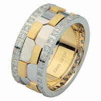 Item # 68740010DE - Two-Tone Diamond Eternity Ring