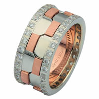 Item # 68740020DR - 14 K Rose & White Gold Diamond Eternity Ring